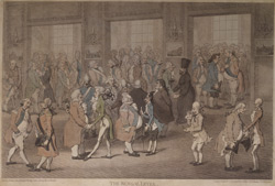 'The Bengal Levee', showing Lord Cornwallis in a crowd of sycophants